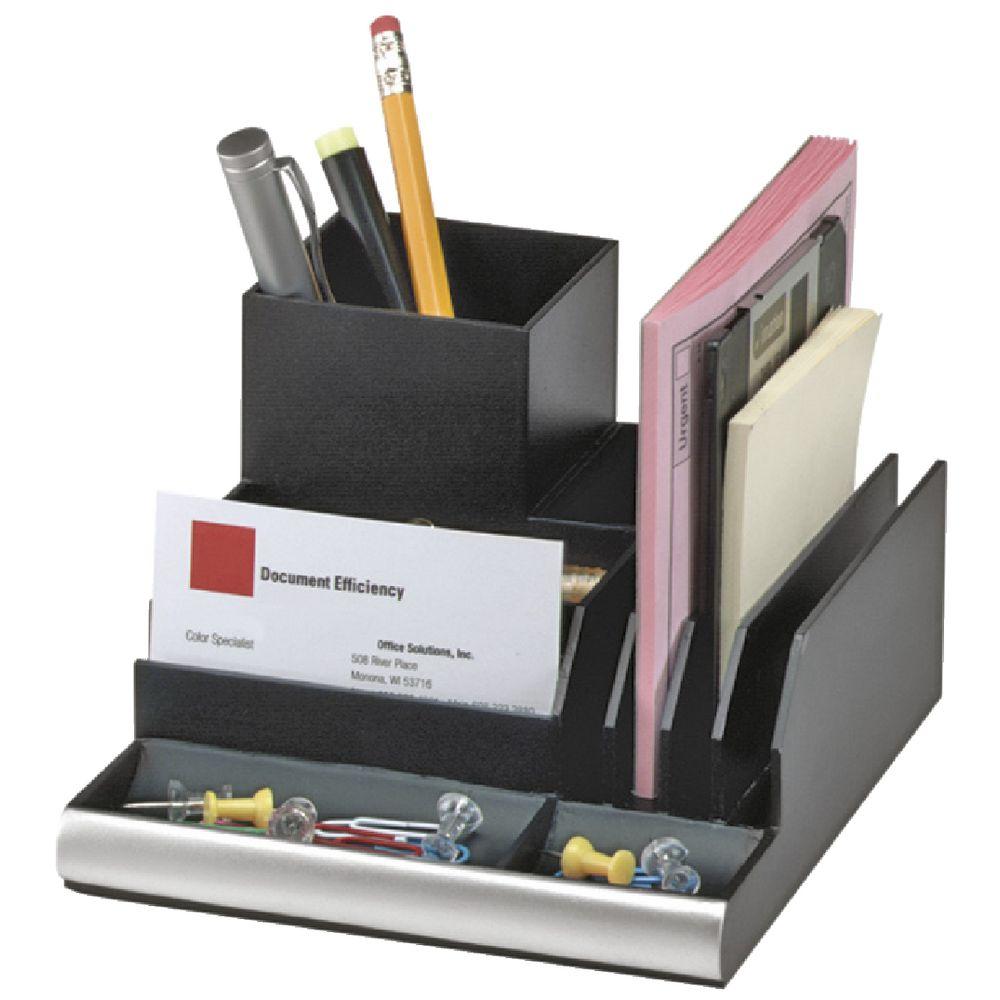 Desk Organizer Plain Office Desk Organizer Rotating Black For Decor