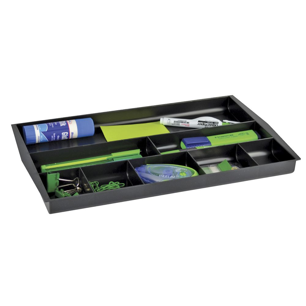 Italplast Recycled Drawer Tidy Black Officeworks