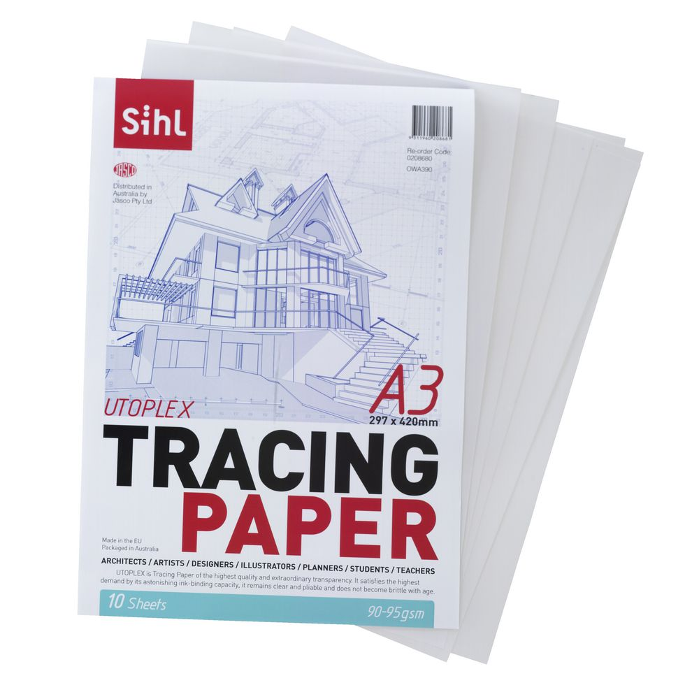 where can you buy tracing paper I was going to order a large size or roll of tracing paper, but can't tell from  websites which brands are most translucent the kind i have right now.