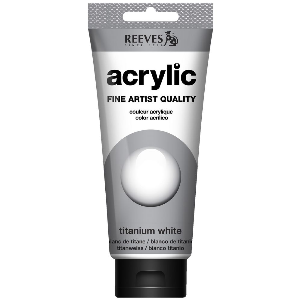 Reeves Artist Acrylic Paint 200mL Titanium White | Officeworks
