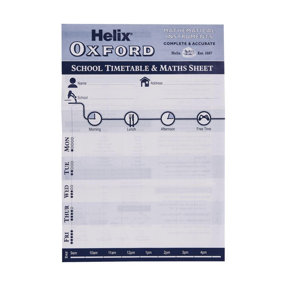 Helix Oxford Blue 9 Piece Maths Set Officeworks