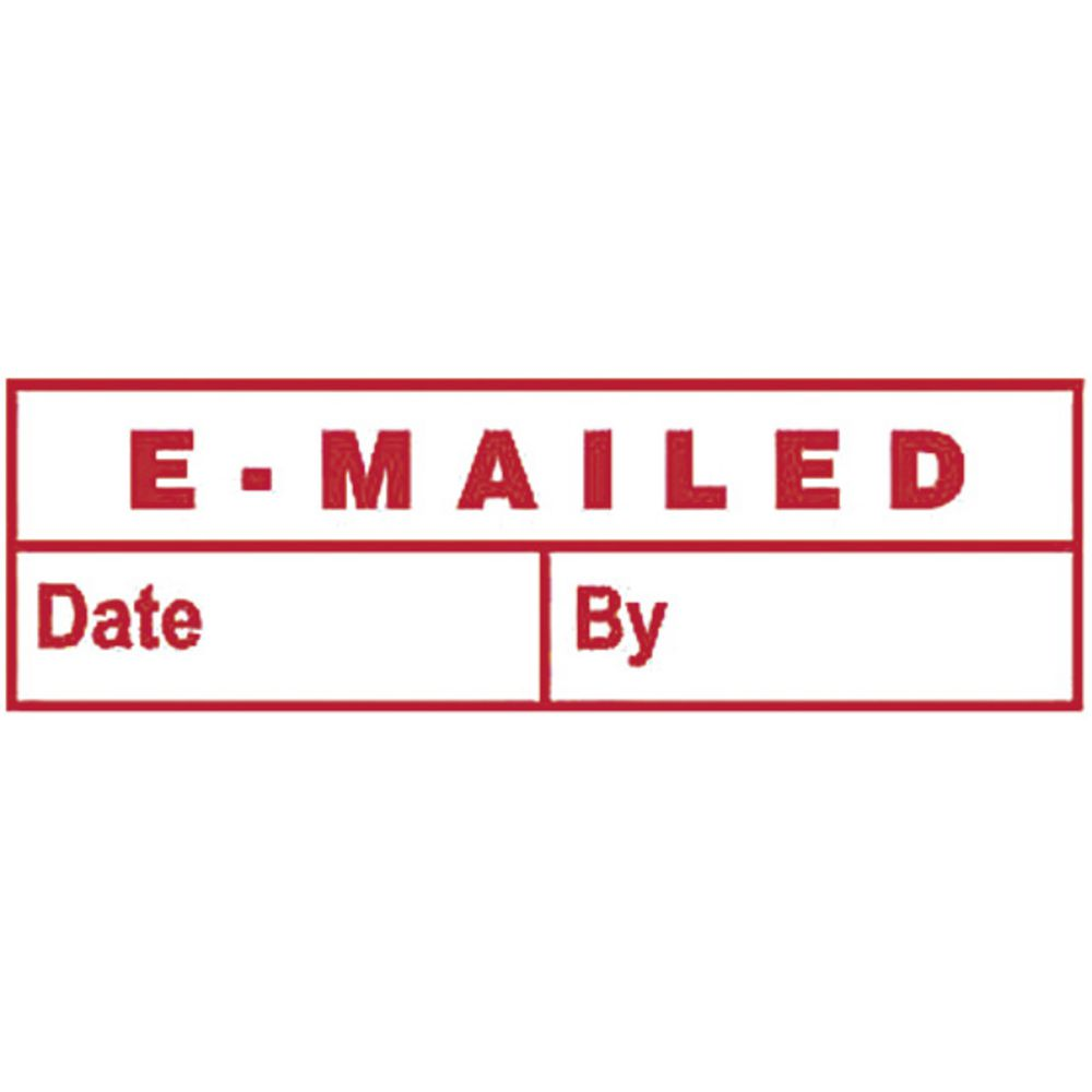 Deskmate Pre-Inked Office Stamps Emailed Date Red | Officeworks
