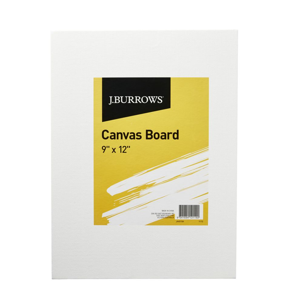 J burrows 9 x 12 canvas board officeworks for What is canvas board