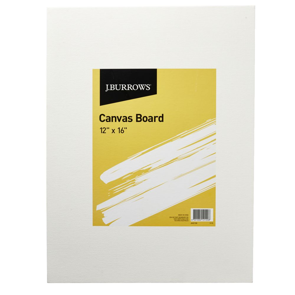 J burrows 12 x 16 canvas board officeworks for What is canvas board