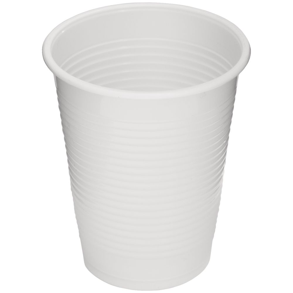 J Burrows Plastic Cups White 180ml 100 Pack Officeworks