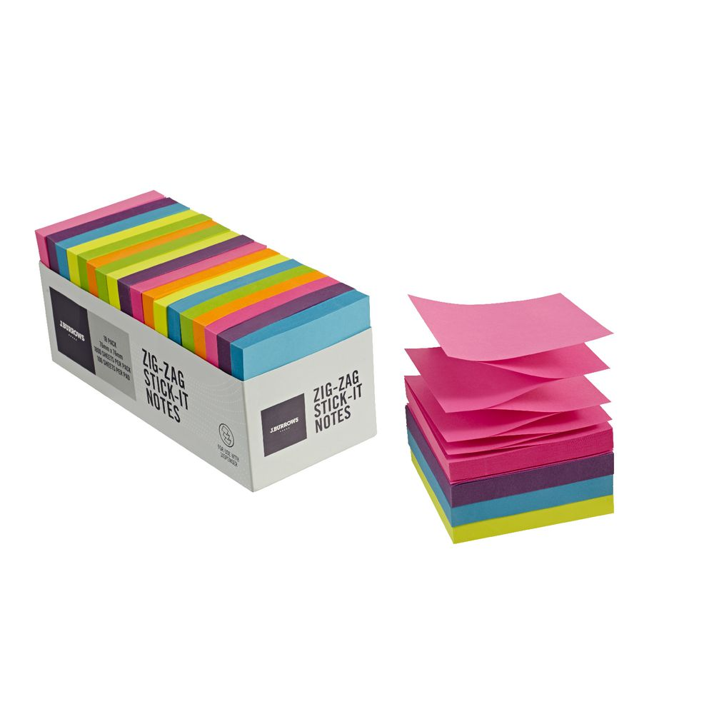 Hand Towels Officeworks: J.Burrows Stick-it Dispenser Notes 76 X 76mm Assorted 18