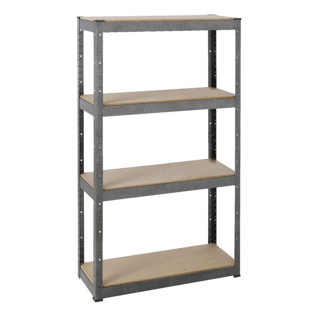 metal storage shelves. hammerfast 4 shelf boltless shelving system metal storage shelves