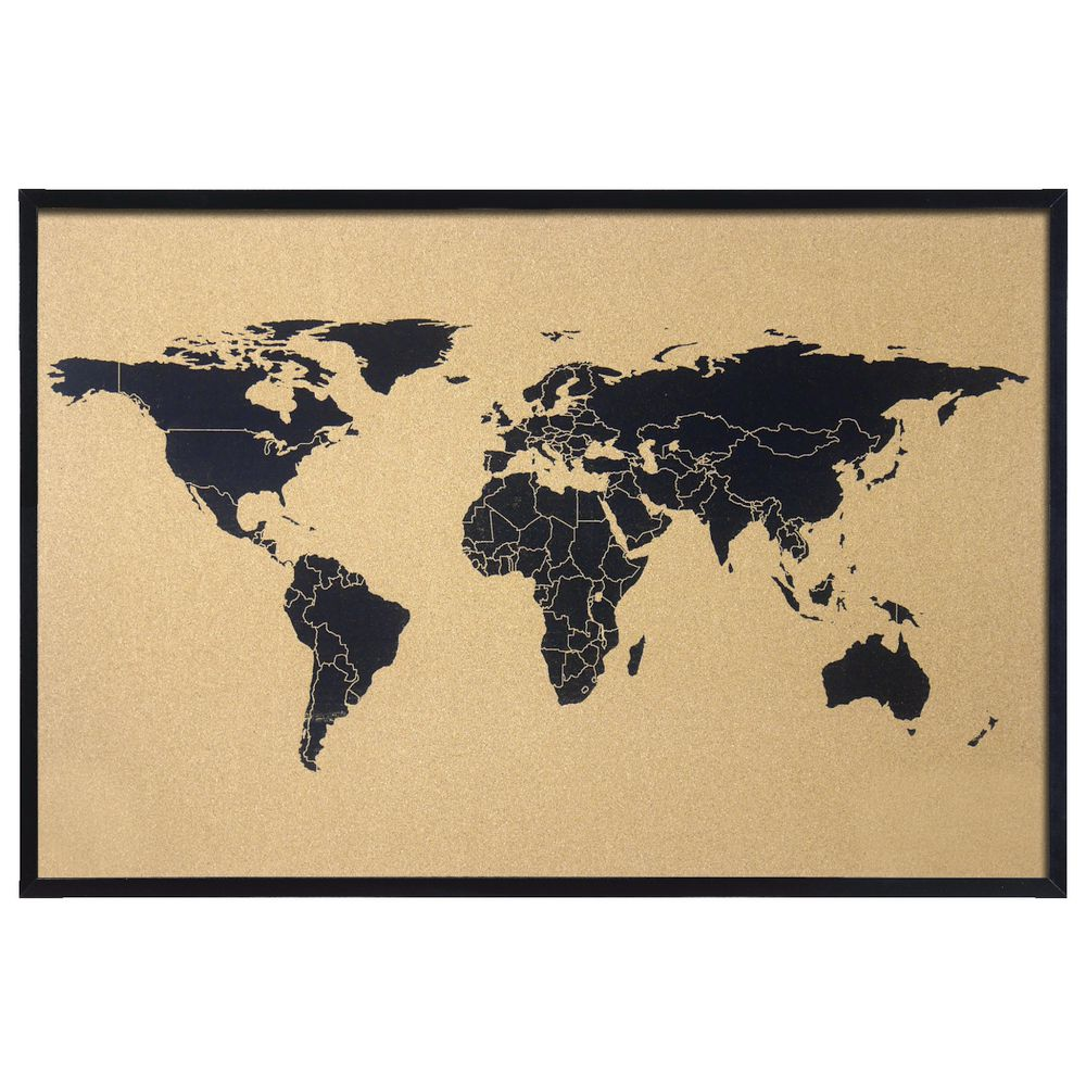 World Map Store.J Burrows World Map Cork Board 900 X 600mm Officeworks