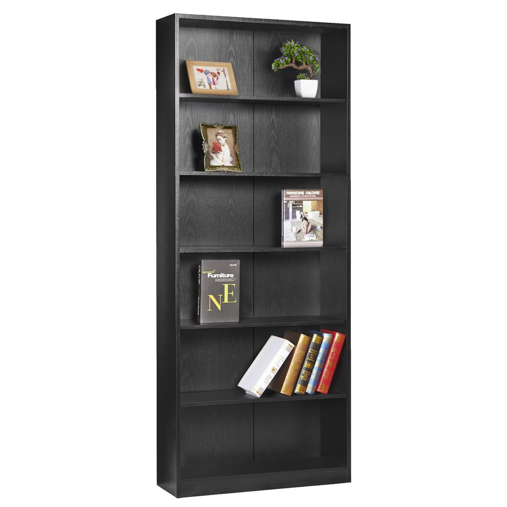 Austin 6 Shelf Bookcase Black - Bookcases & Cubes Officeworks