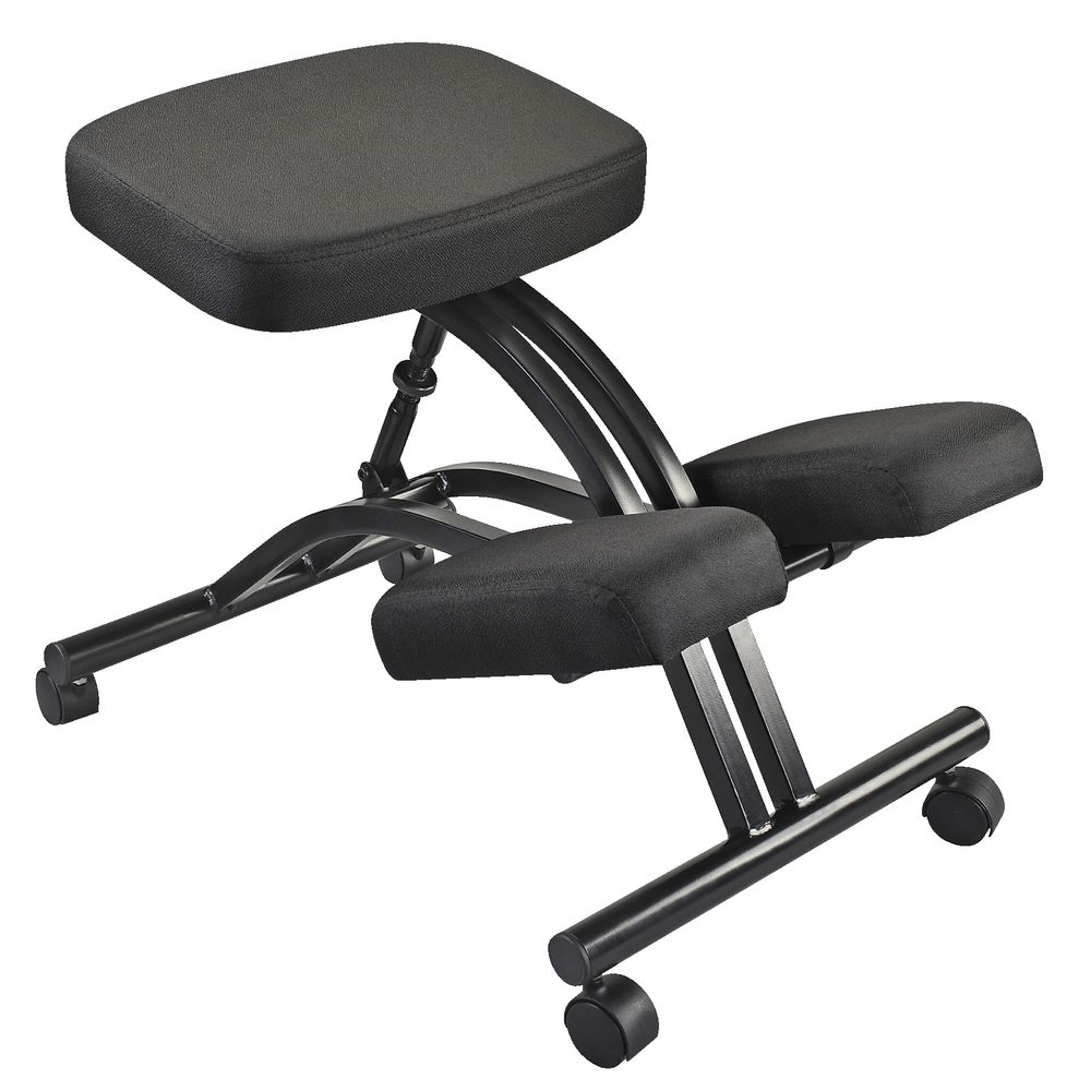 Ergonomic office chair kneeling posture - Adjustable Kneeling Stool Black