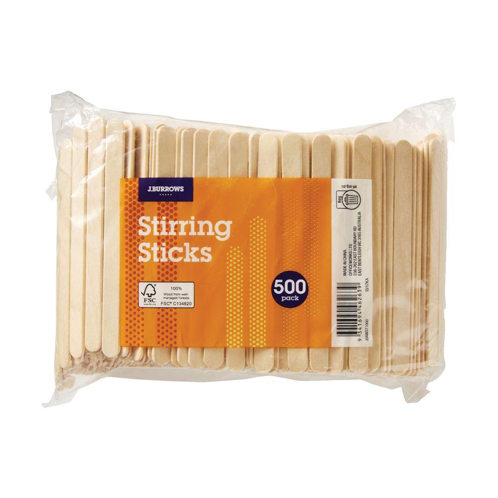 Jburrows Wooden Stirring Sticks 500 Pack Officeworks