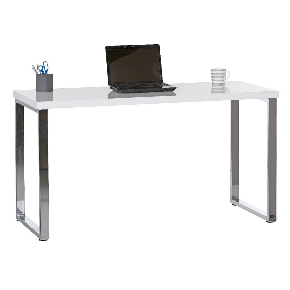 chrome office desk. contour loop leg desk white and chrome office e