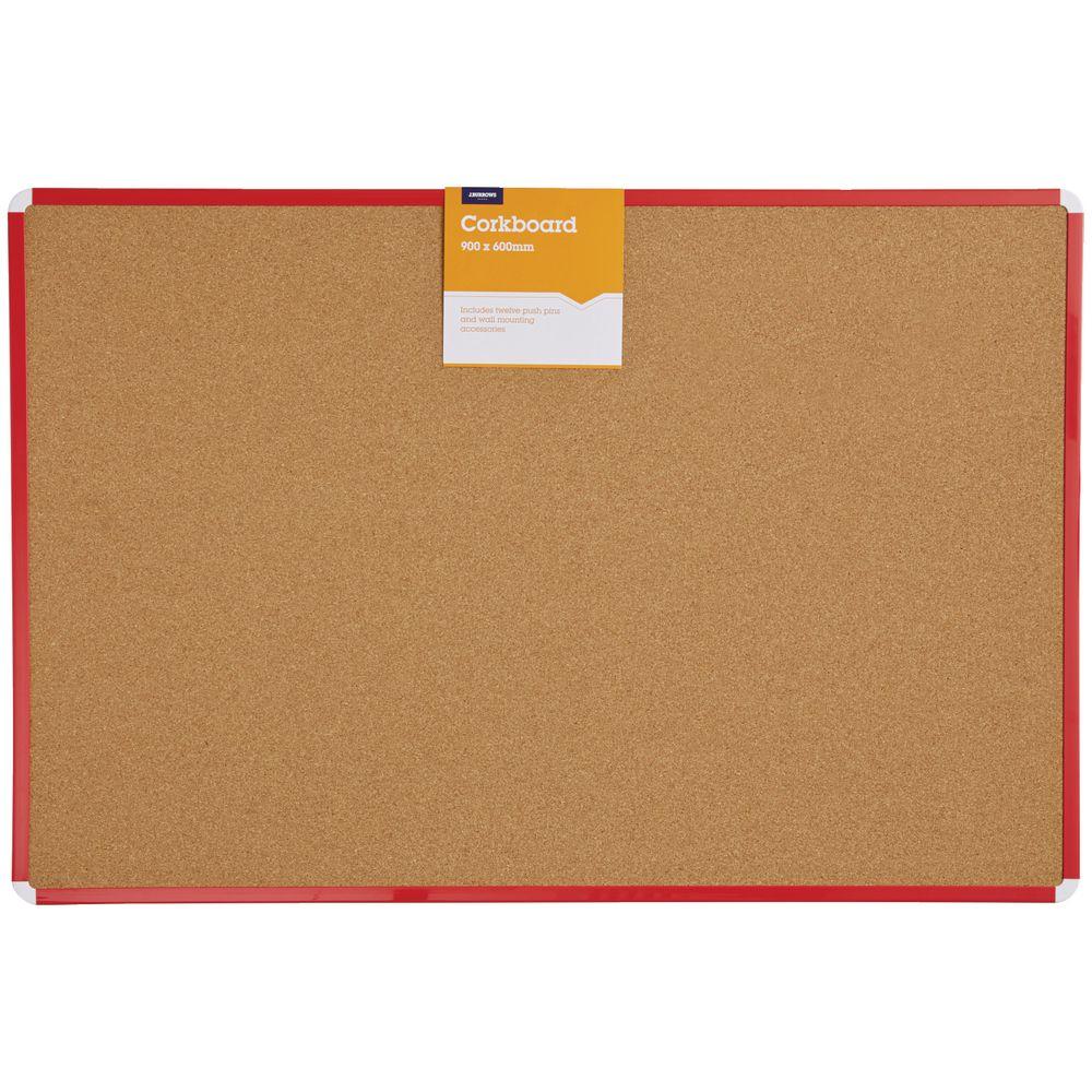 Jburrows Cork Board 900 X 600mm Oak Officeworks