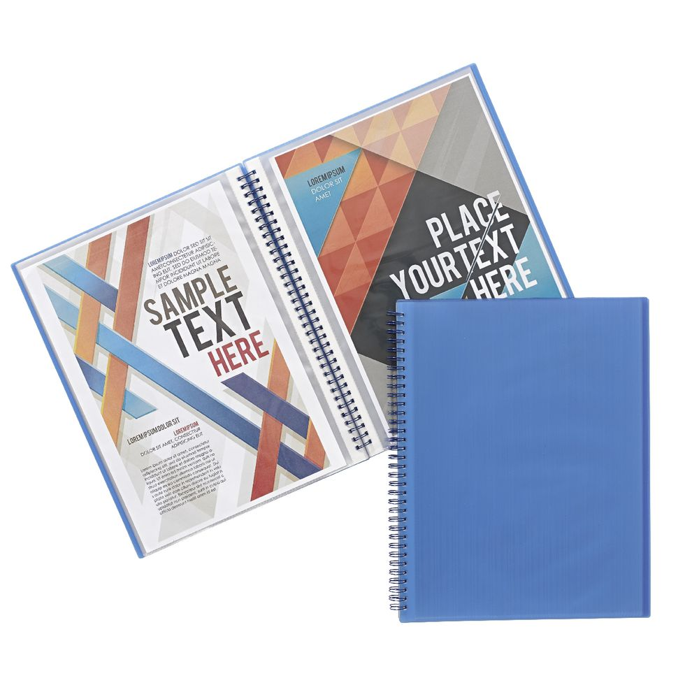J.Burrows Display Book A4 20 Pocket Fixed Blue