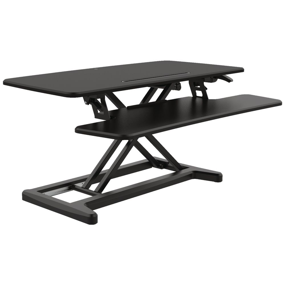 Professional Electronic 890mm Sit Stand Desk Black Officeworks