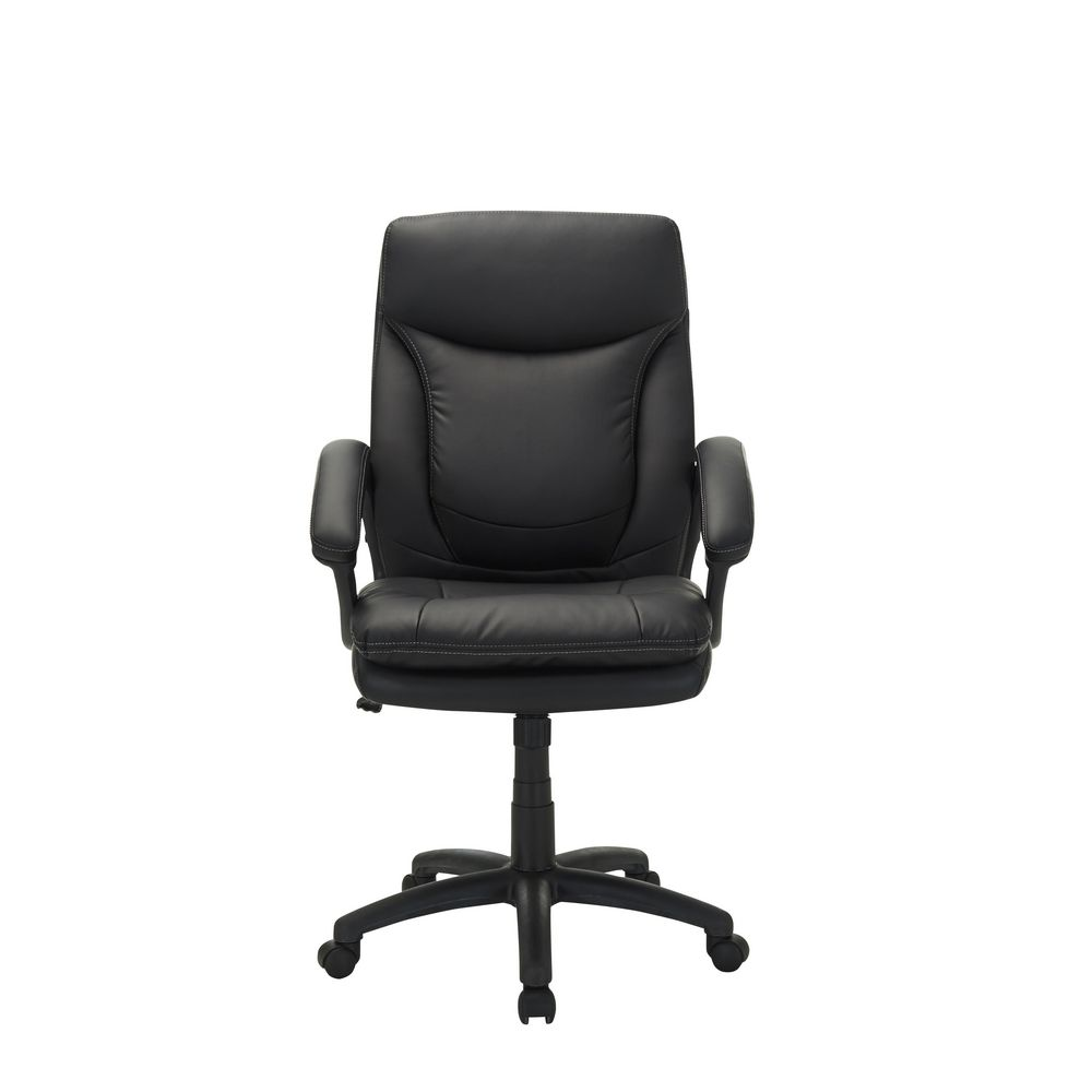 Hilton Chair BlackLeather Chairs   Plush Chairs online   Officeworks. Officeworks Chair. Home Design Ideas