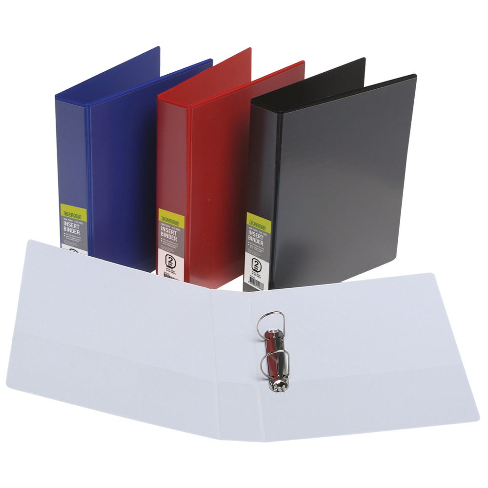 J.Burrows Insert Binder A4 2 D-Ring 50mm White | Officeworks