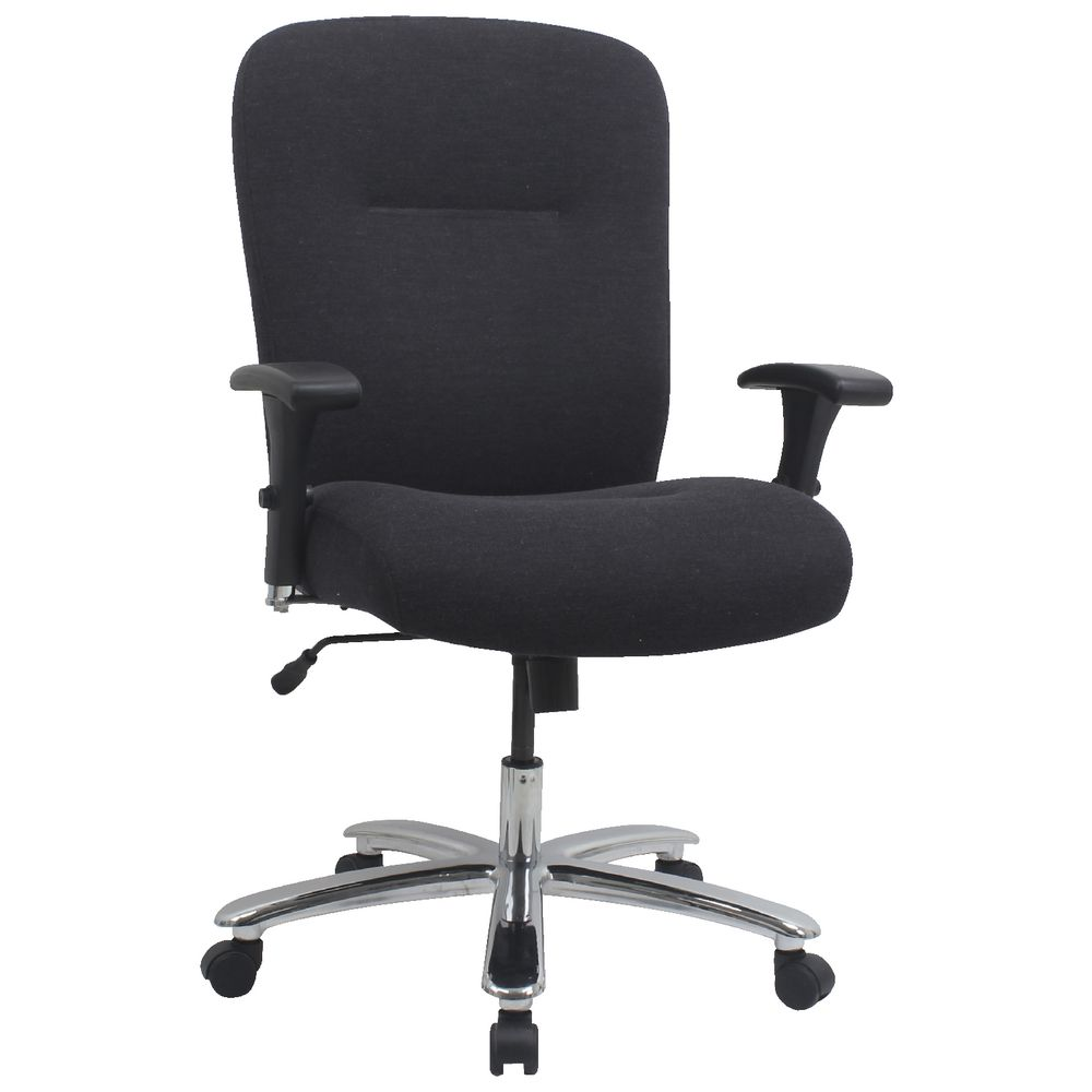 Office chairs for big and tall - Matrix Big And Tall Fabric Chair Dark Grey