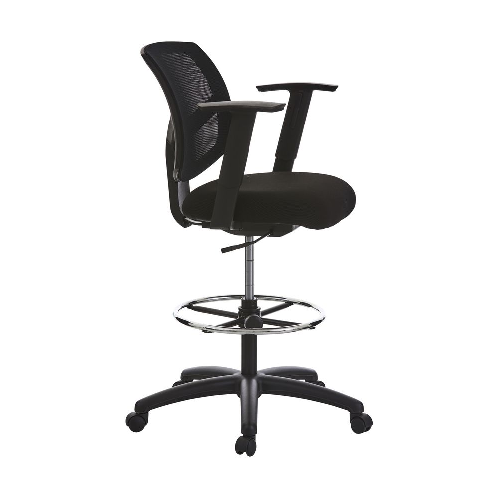 matrix mesh drafting chair black