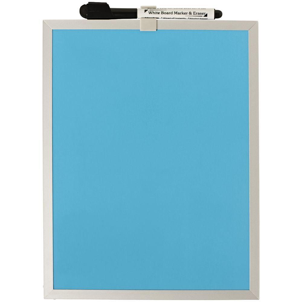 magnetic whiteboards  officeworks - jburrows aluminium frame magnetic whiteboard blue