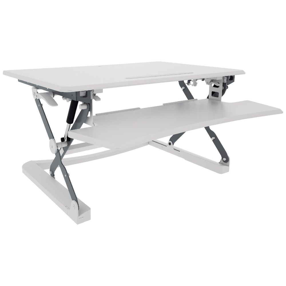 Sit Stand Desk >> Professional Sit Stand Desk 890mm White