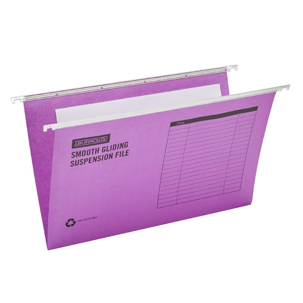 J Burrows Suspension File Foolscap Assorted 25 Pack