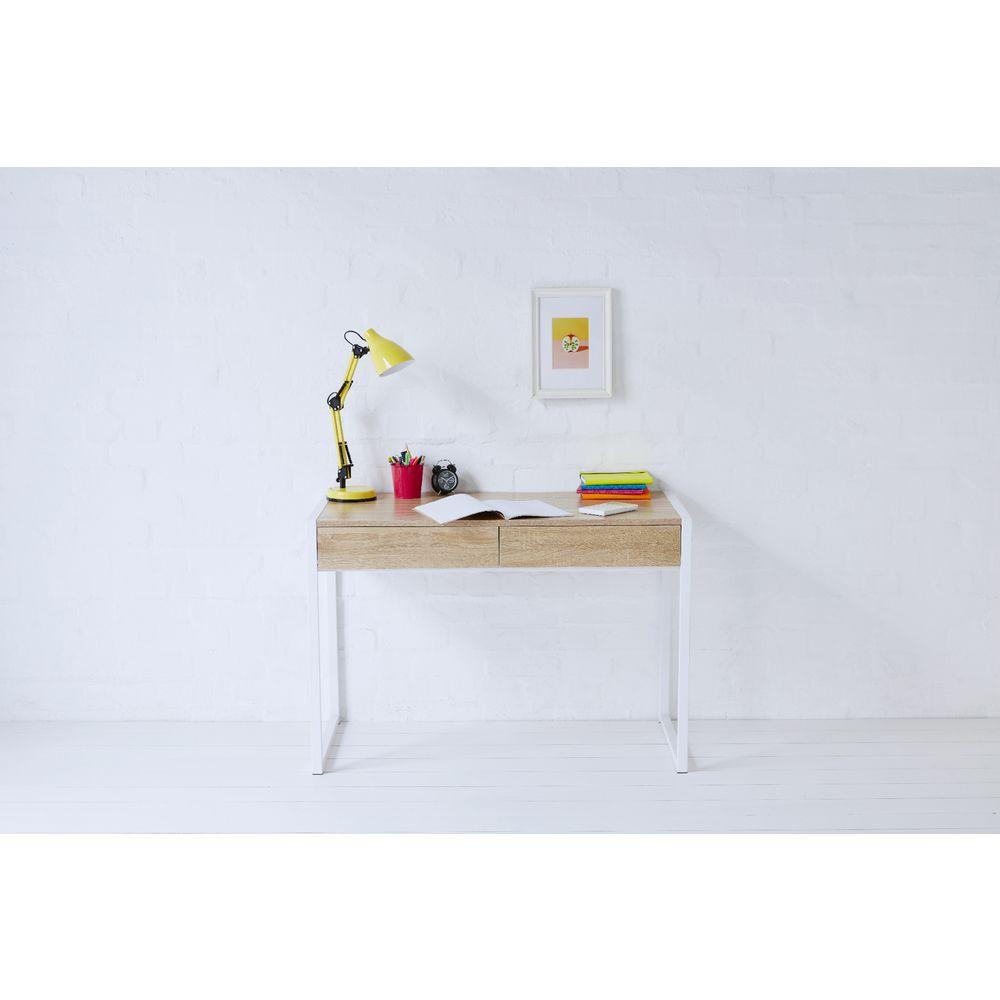 Sheffield 2 Drawer Desk White/Oak