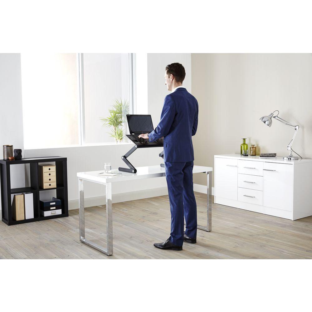 Portable Folding Sit Stand Desk Officeworks