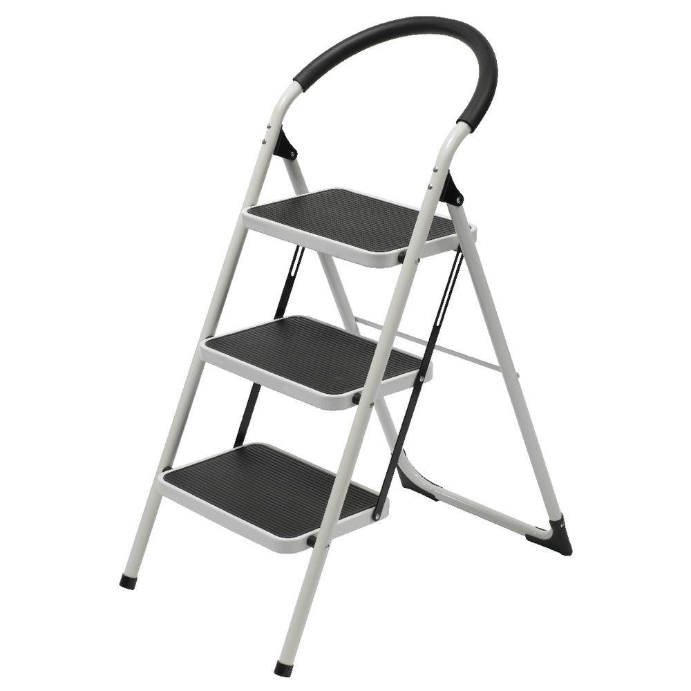 j burrows 3 step ladder 150kg white