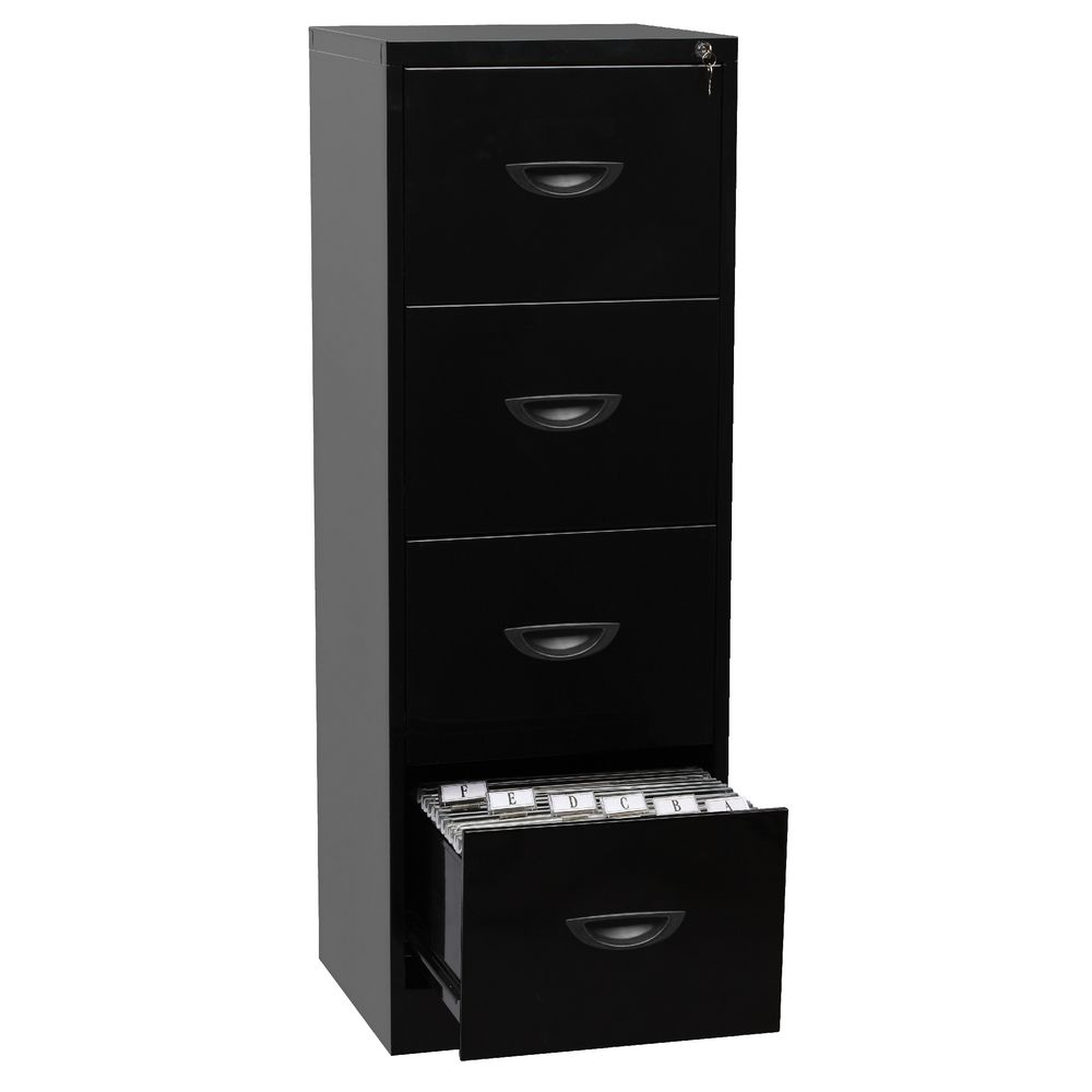 black file cabinet soho 4 drawer filing cabinet black ebay 12362