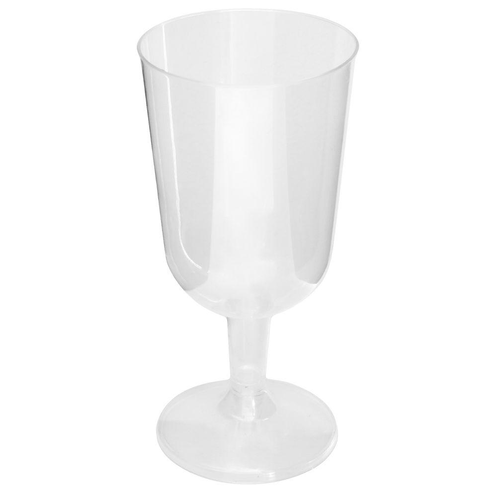 Jburrows Plastic Wine Glasses Clear 100 Pack Officeworks