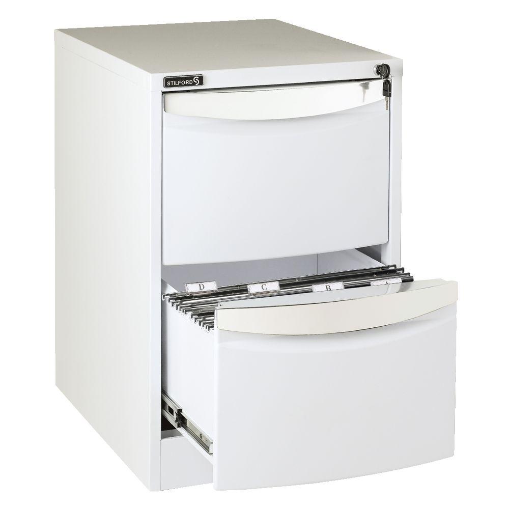 stilford 2 drawer filing cabinet white