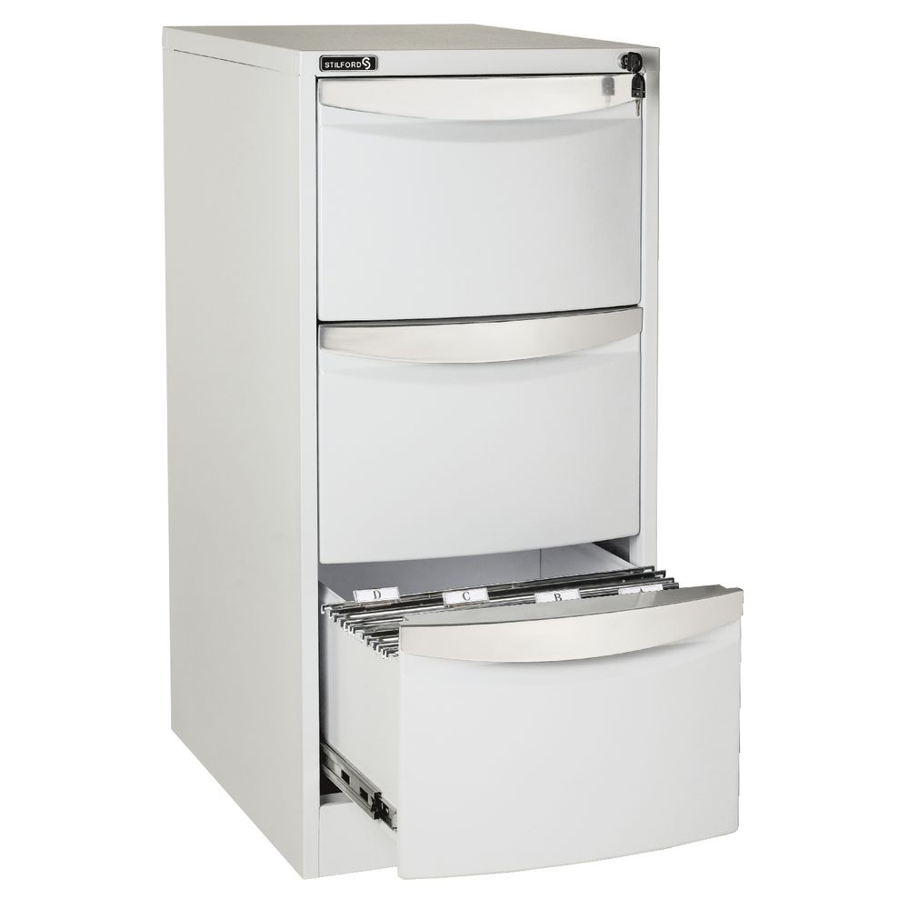 Stilford 3 Drawer Filing Cabinet White | Officeworks