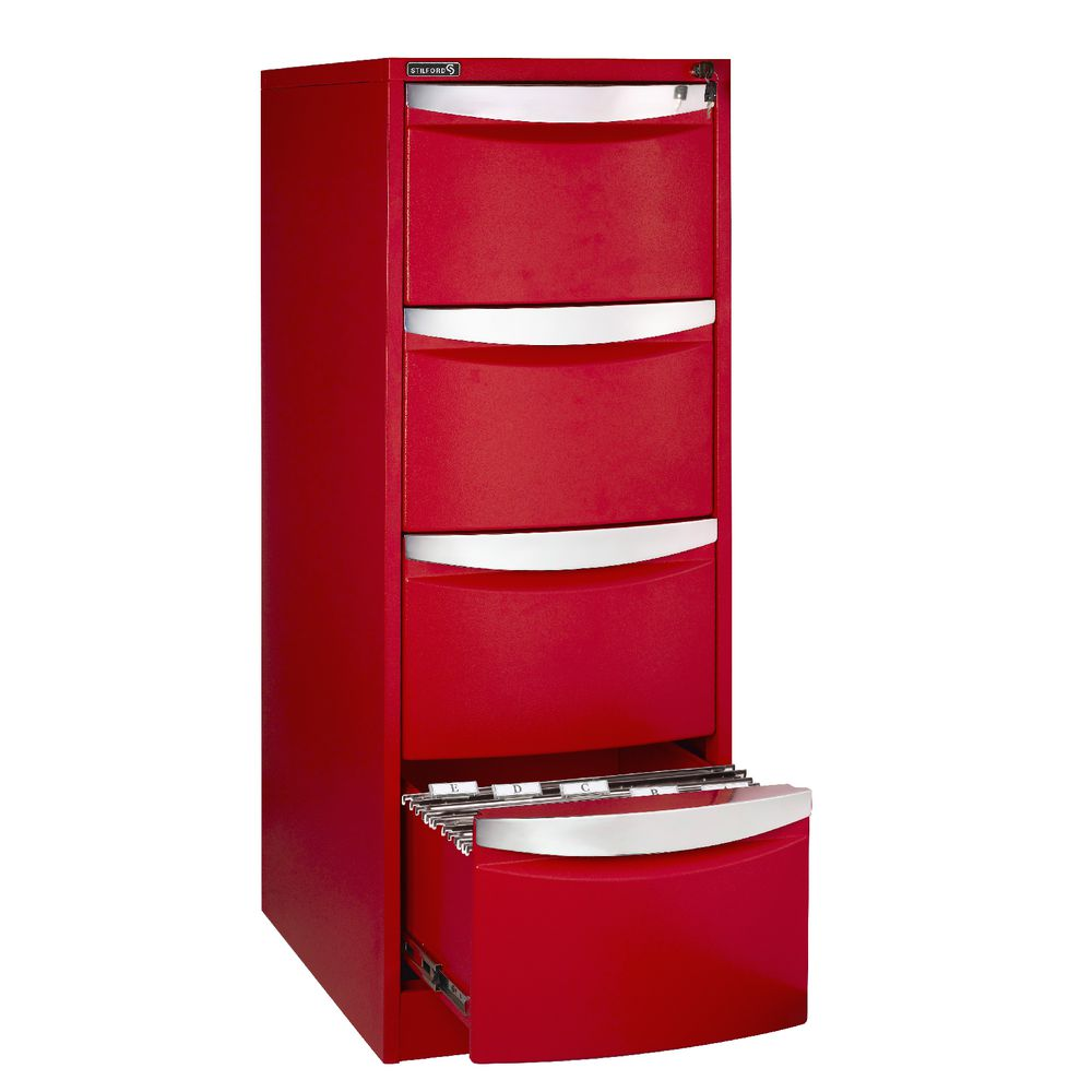 red filing cabinet stilford 4 drawer filing cabinet ebay 25170