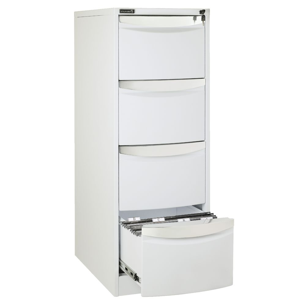 file cabinet 4 drawer stilford 4 drawer filing cabinet white ebay 15312