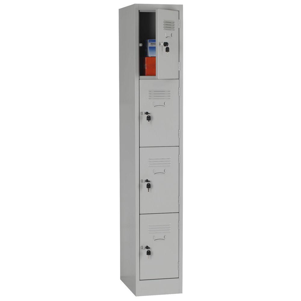 Stilford 4 Door Locker Silver  sc 1 st  Officeworks & Stilford 4 Door Locker Silver | Officeworks pezcame.com