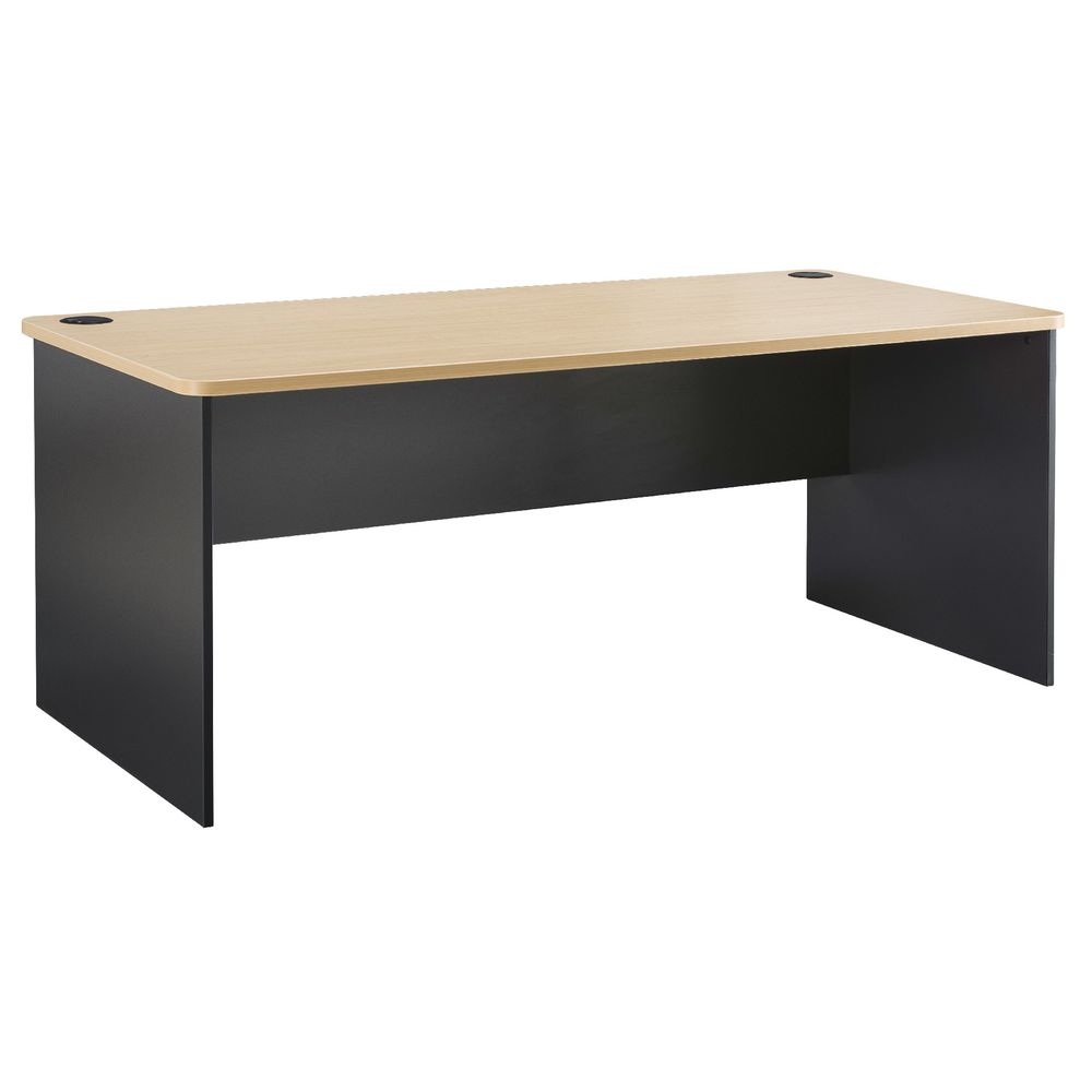 Toro Straight Desk 1800mm Maple Grey Officeworks