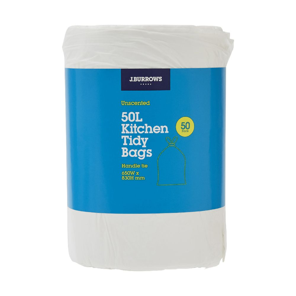 Kitchen Tidy Jburrows Kitchen Tidy Plastic Bags 50l Unscented 50 Pack