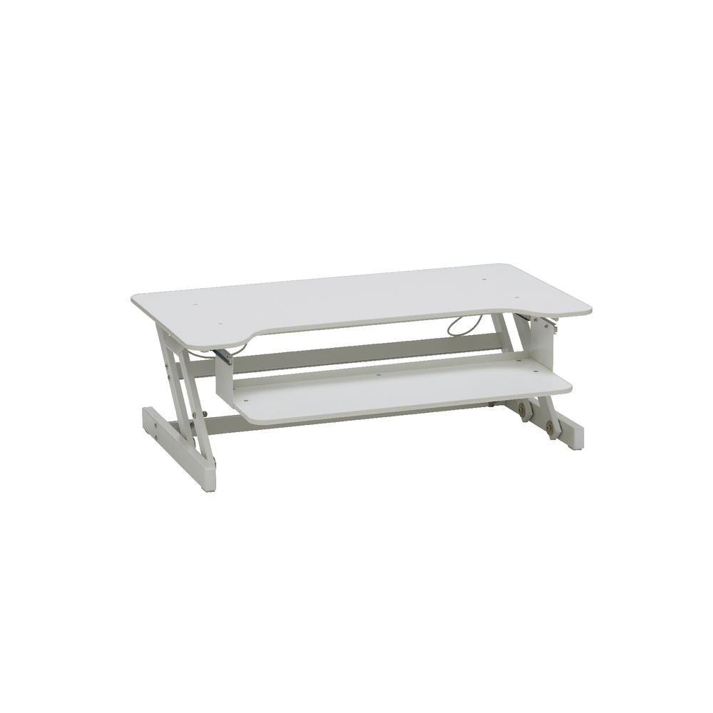 Wynston Sit Stand Desk Large White Officeworks