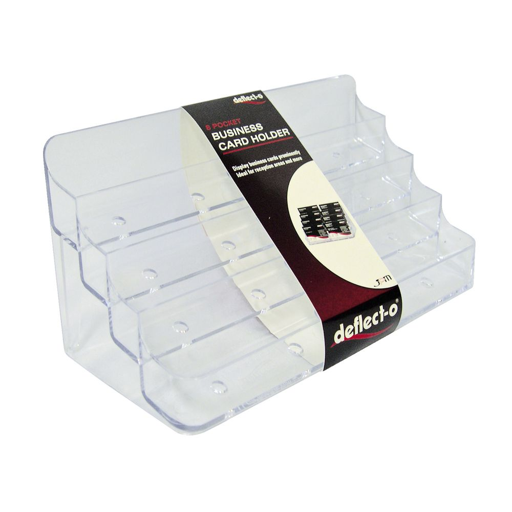 deflecto 8 pocket business card holder landscape  officeworks
