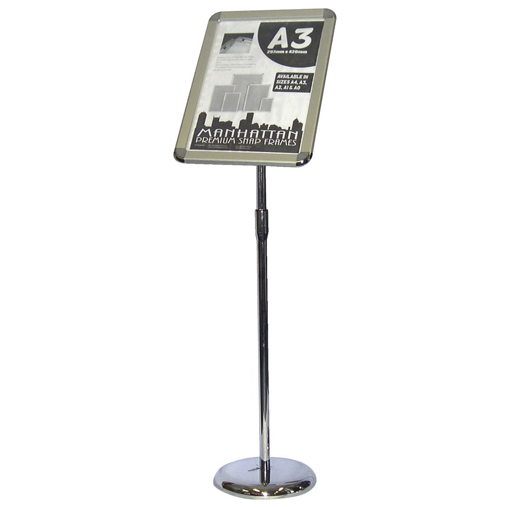 Deflect O A3 Premium Snap Frame Foyer Stand Aluminium