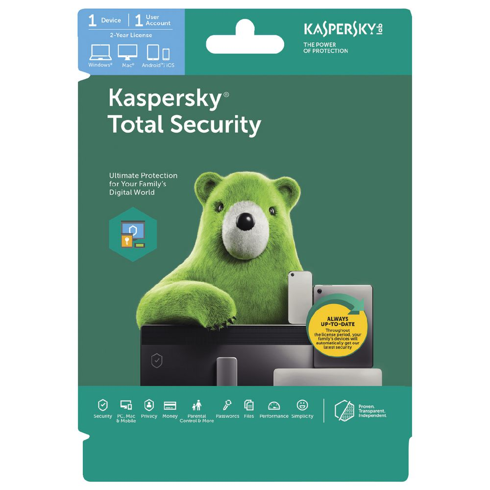 Kaspersky Total Security 1 Device 2 Year Download