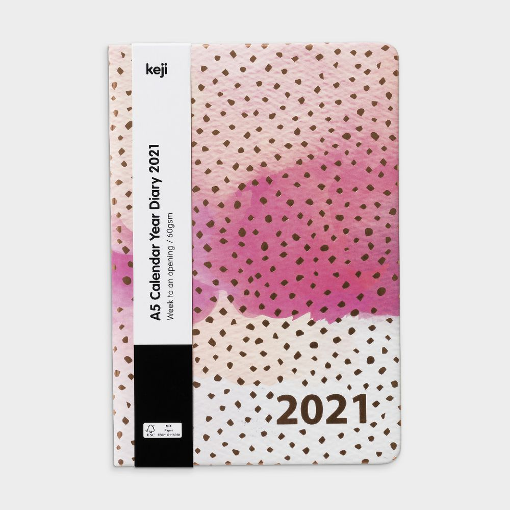 keji a5 week to view 2021 pu diary pink gold officeworks keji a5 week to view 2021 pu diary pink gold