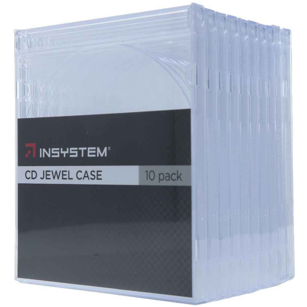 InSystem Jewel CD Case Clear 10 Pack | Officeworks