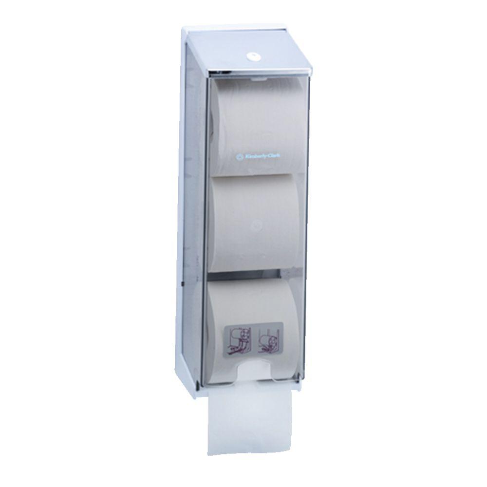 Kimberly Clark 3 Roll Clear Toilet Tissue Dispenser Officeworks