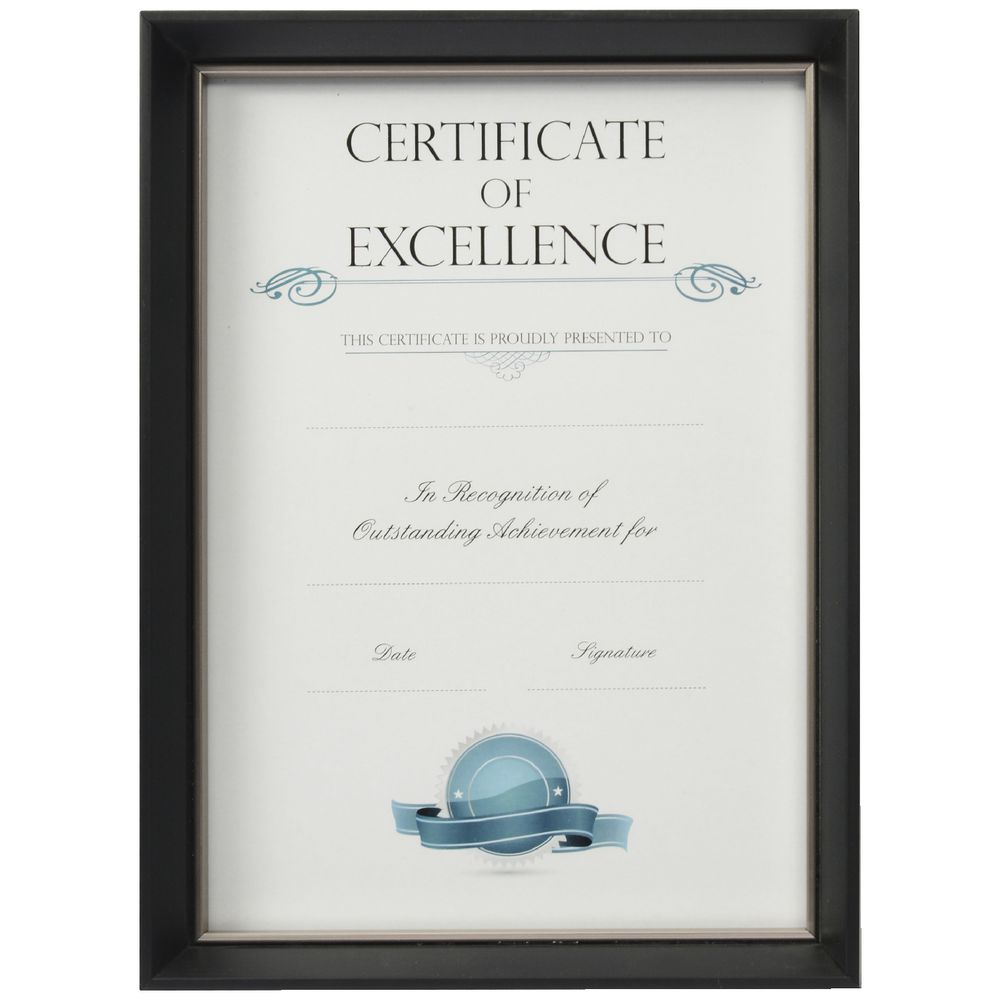 Certificate Frame A4 Blacksilver Officeworks