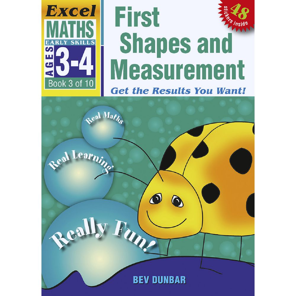 Excel Early Skills Maths Book 3 Shape and Measure | Officeworks