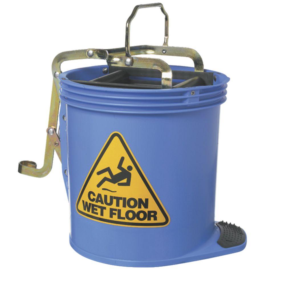 Oates Wringer Mop Bucket Blue Officeworks