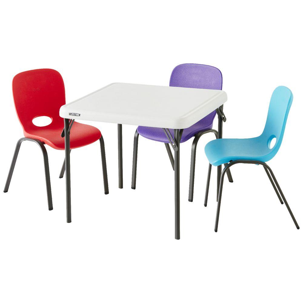 Lifetime Kids Square Folding Table Officeworks