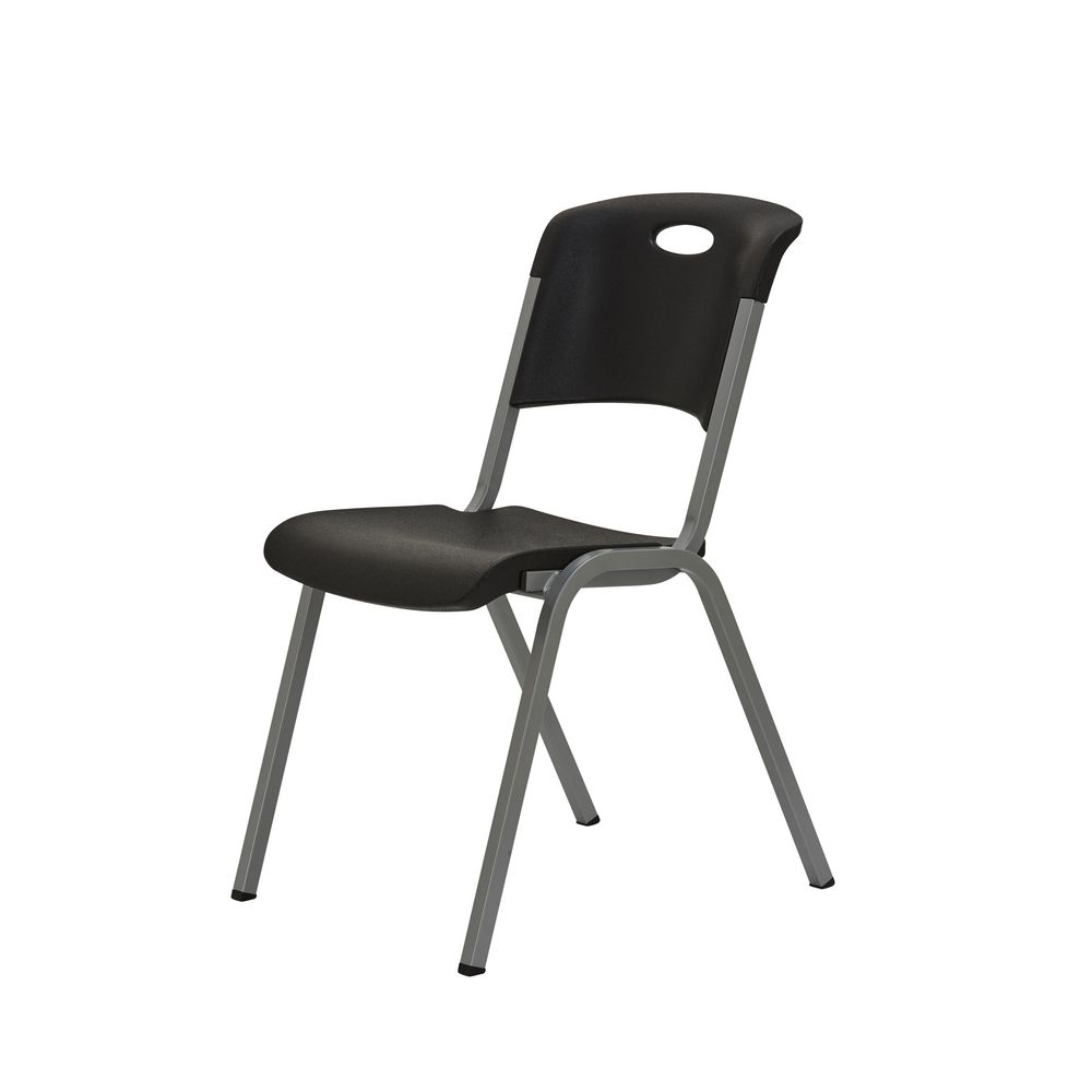 Black Stackable Chairs lifetime stackable chair black | officeworks